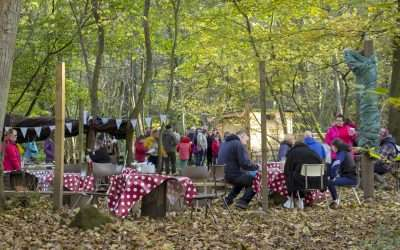 Family friendly murder mystery in the woods